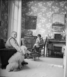 Gertrude Stein and Alice B. Toklas in wallpapered room, by Sir Cecil Beaton via the Cecil Beaton Studio Archive at Sotheby's London, England