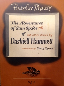 Dashiell Hammett, The Adventures of Sam Spade, (New York: Lawrence E. Spivack, 1944). From the Sheridan Libraries, Johns Hopkins University. Photograph by Kylie Sharkey.