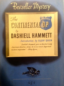 Dashiell Hammett, The Continental Op (New York: Lawrence E. Spivack, 1945). From the Sheridan Libraries, Johns Hopkins University. Photograph by Kylie Sharkey.