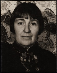 Photo of Mabel Dodge Luhan, April 12 1934, Gertrude Stein at Johns Hopkins, c. 1892, from Mabel Dodge Luhan Papers, Yale Collection of American Literature in Beinecke Rare Book and Manuscript Collection.