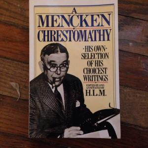 FIgure 1. A Menken Chrestomathy by H.L. Mencken. From the Sheridan Libraries, Johns Hopkins University. Photograph by Kylie Sharkey.