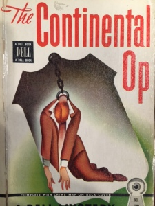 Cover. Hammett, Dashiell. The Continental Op. (New York: Lawrence E. Spivak Publishers, 1945) From the Sheridan Libraries, Johns Hopkins University. Photo by Laura Ewen