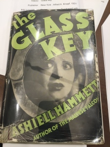 Dust Jacket. Dashiell Hammett. The Glass Key. New York: Alfred A. Knopf, 1931. From the Sheridan Libraries, Johns Hopkins University. Photograph by Allison Cox.