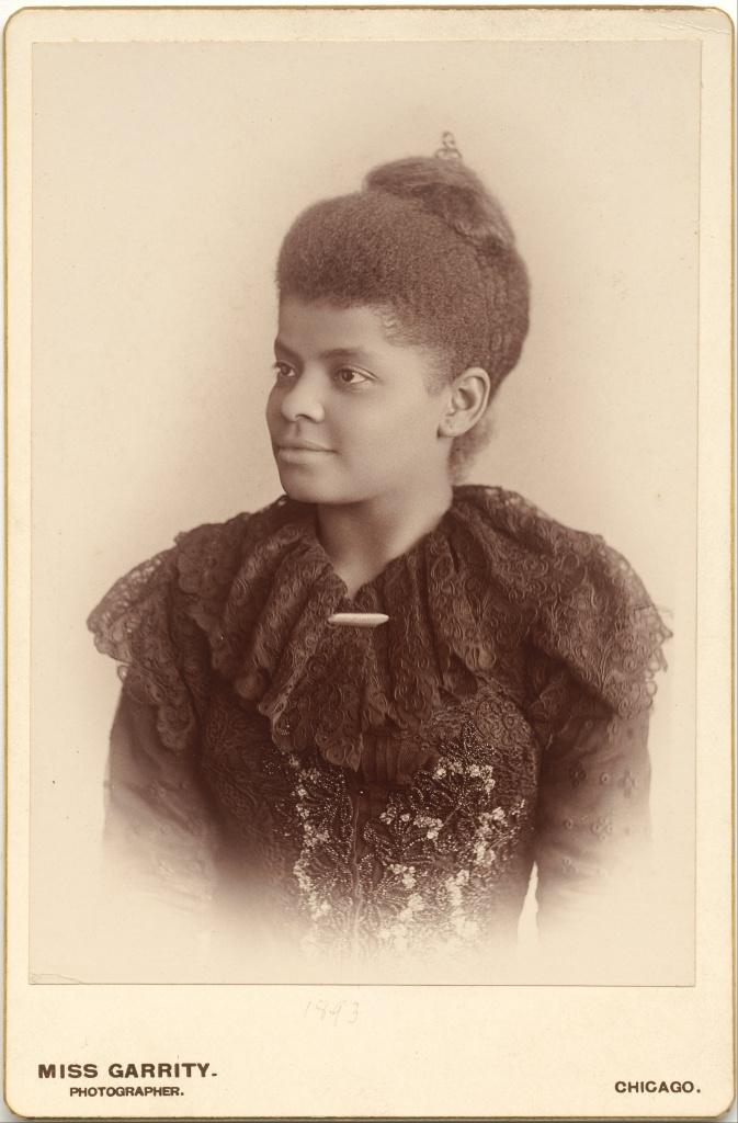 Photograph of Ida B. Wells, circa 1893 by Sallie E. Garrity. National Portrait Gallery, Washington DC. Public domain.